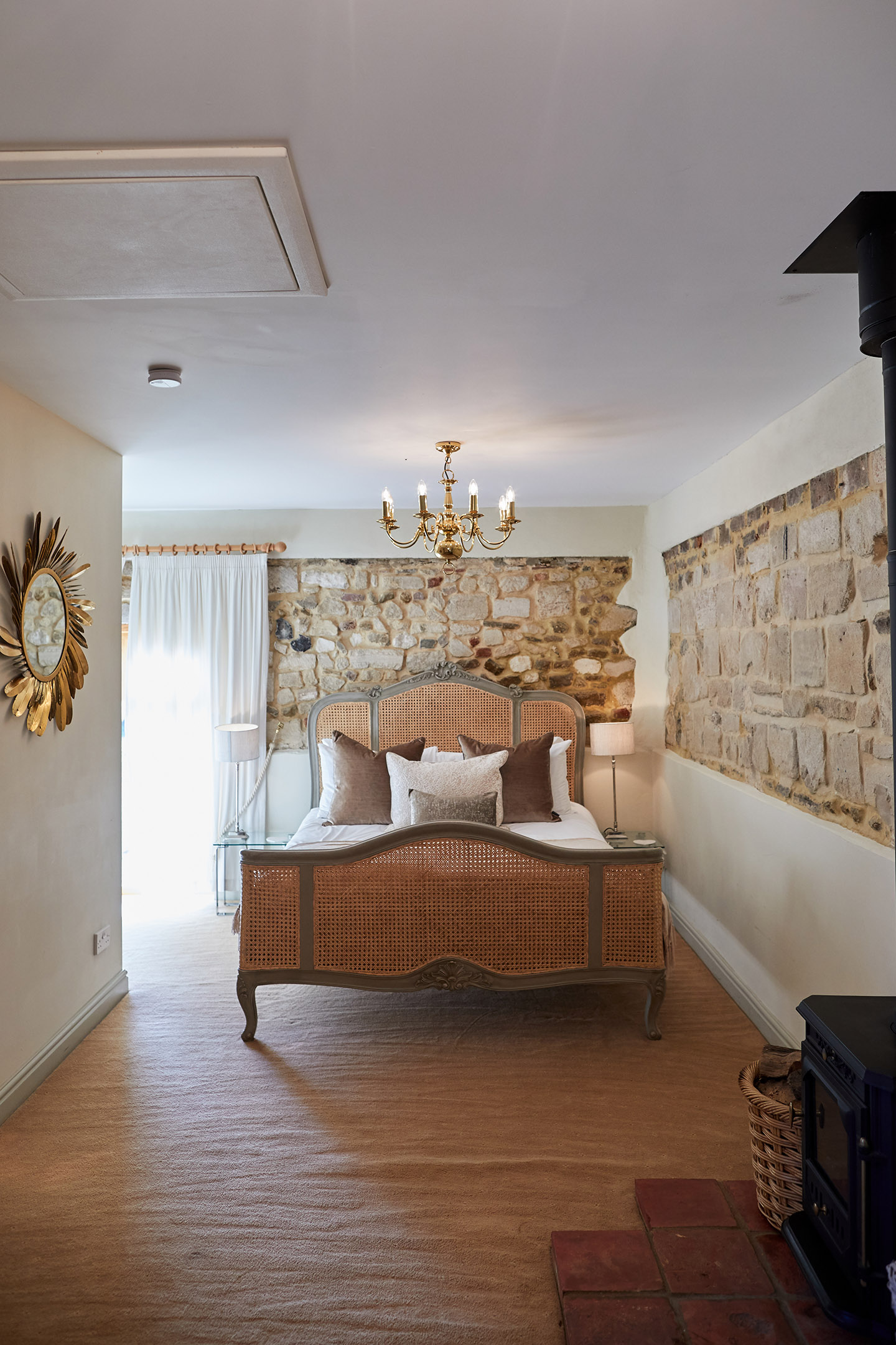 The honeymoon suite at Pentney Abbey exclusive use wedding venue