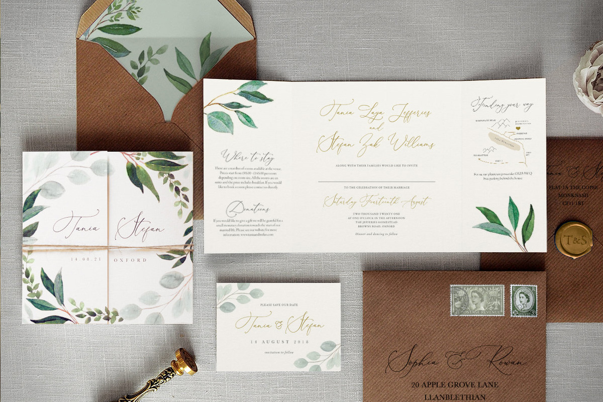 Stunning contemporary stationery for your wedding at Pentney Abbey in Norfolk